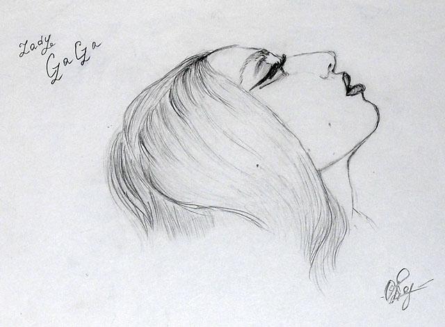 Рисунок Леди Гага. Скетч