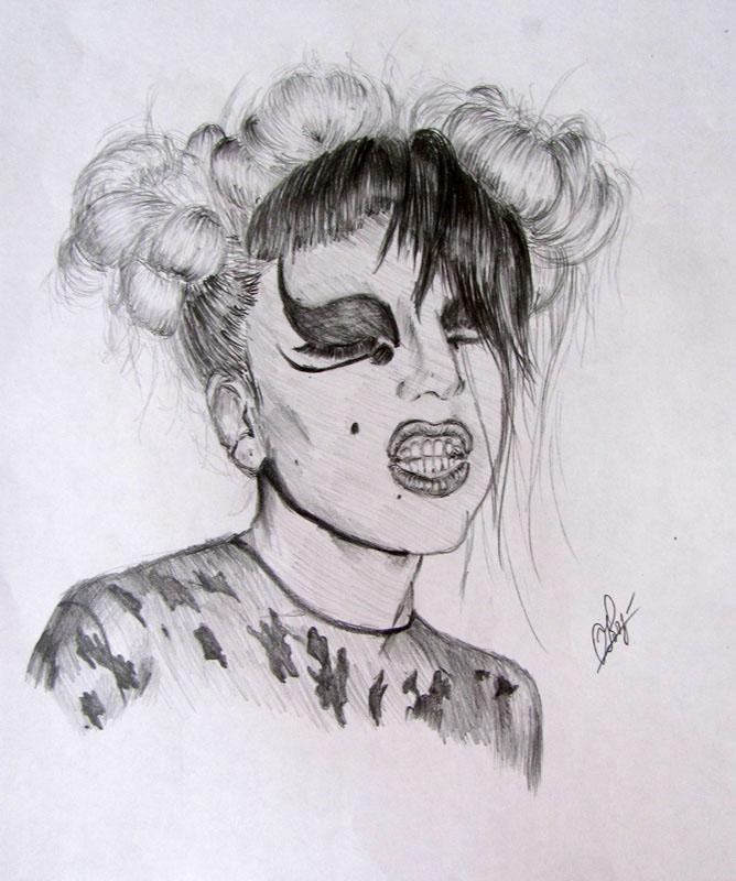 Рисунок Lady Gaga. Mugler